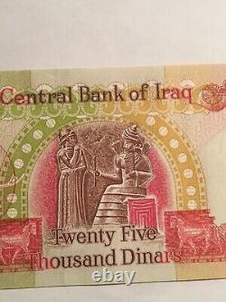 100,000 IRAQI DINARS CURRENCY 4 x 25,000 IQD UNC IRAQ DINAR BANKNOTES 2003
