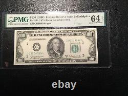 100.00 1950D FRNote small currency PMG64 unc. EPQ easily could be a 65