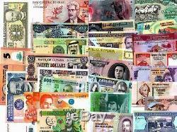 102 Countries 102PCS 100 Different UNC World Banknotes Bundle set+Currency Album