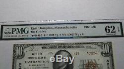 $10 1929 Easthampton Massachusetts MA National Currency Bank Note Bill 428 UNC62