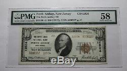 $10 1929 Perth Amboy New Jersey NJ National Currency Bank Note Bill #12524 UNC58
