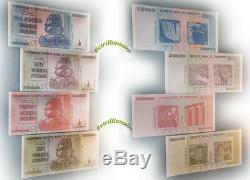 10,20,50,100 Trillion Zimbabwe Dollar Money Currency. Unc USA Seller