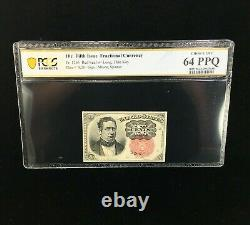 10 Cent Fifth Issue Fractional Currency Pcgs Banknote Choice Unc 64 Ppq (688)