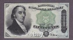 1869-75 50¢ BEAUTIFUL UNC SAMUEL DEXTER U. S. Fractional Currency