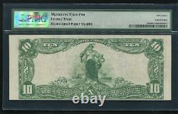 1902 $10 The First Nb Of Wamego, Ks National Currency Ch. #3434 Pmg Unc-64epq