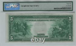 1914 $5 Federal Reserve Note Currency New York Fr. 851c PMG CHOICE UNC 64 EPQ