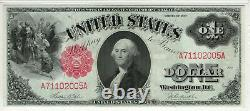 1917 $1 Legal Tender Red Seal Note Currency Fr. 36 Pmg Choice Unc 64 (005a)