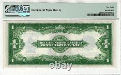 1923 $1 Silver Certificate Note Currency Fr. 238 Woods/White PMG ABOUT UNC 58 EPQ