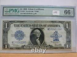 1923 Silver Certificate $1 Dollar Bill Fr# 237 PCGS Currency 66EPQ Gem Unc
