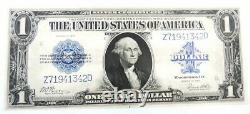 1923 US Mint $1 Blue Seal Silver Certificate Currency Paper Note UNC #342D