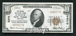 1929 $10 Chase Nb Of The City Of New York, Ny National Currency Ch. #2370 Unc