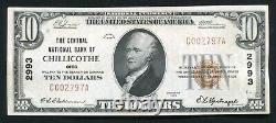 1929 $10 The Central Nb Of Chillicothe, Oh National Currency Ch. #2993 About Unc