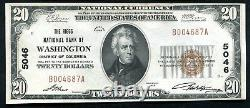 1929 $20 The Riggs Nb Of Washington, D. C. National Currency Ch #5046 Unc (n)