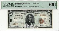 1929 $5 First National Banknote Currency Lexington Kentucky PMG GEM UNC 66 EPQ