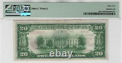 1929 T1 $20 First National Banknote Currency Lincoln Nebraska PMG Choice UNC 64