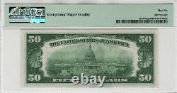 1934 $50 Federal Reserve Note Currency Fr. 2102-bdgs Ba Block Pmg Gem Unc 66 Epq