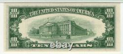 1953 B $10 Silver Certificate Note Currency Fr. 1708 Pmg Gem Unc 66 Epq (138a)