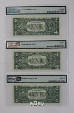 1963 $1 Federal Reserve Note Currency District Mule Set Pmg Unc (616a)