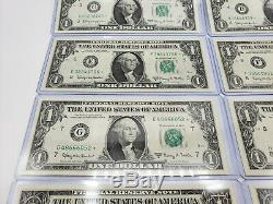 1963 $1 Notes UNC ALL 12 DISTRICTS In Individual Currency Holders