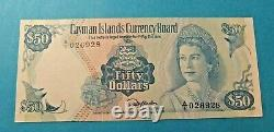 1974 Cayman Islands Currency Board 50 DOLLARS Bank Note UNC