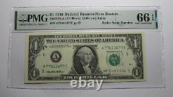 $1 1995 Radar Serial Number Federal Reserve Currency Bank Note Bill PMG UNC66EPQ