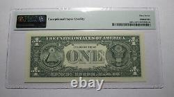 $1 2017 Radar Serial Number Federal Reserve Currency Bank Note Bill PMG UNC67EPQ