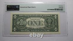 $1 2017 Radar Serial Number Federal Reserve Currency Bank Note Bill! PMG UNC67