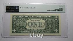 $1 2017 Repeater Serial Number Federal Reserve Currency Bank Note Bill PMG UNC68