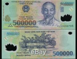 1,500,000 VIETNAMESE DONG CURRENCY (VND) (3) 500,000 Banknotes. UNC