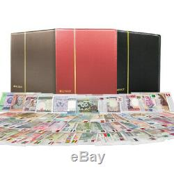1 Set 100 PCS Different World Banknotes100 Countries Real Currency UNC Hardcover