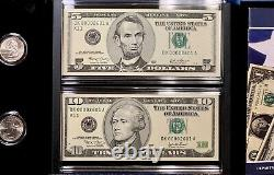 2003 Texas Coin and Currency Set STAR NOTE Low Matching Serial #00002601 UNC OGP