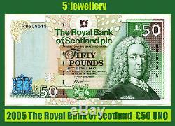 2005 The Royal Bank of Scotland plc £50 Pounds money currency banknote UNC