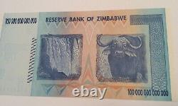 2008 100 TRILLION DOLLARS ZIMBABWE BANKNOTE AA GEM Unc Note Currency