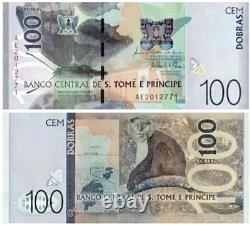2016-2021 Sao Tome and Principe 5 10 20 50 100 200 DOLLARS BANKNOTE CURRENCY UNC