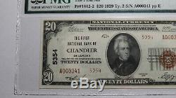 $20 1929 Chandler Oklahoma OK National Currency Bank Note Bill Ch #5354 UNC64EPQ
