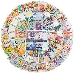 300 Different Mix World Banknotes 50 Countries Genuine Currency Notes UNC
