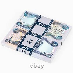 40 x 5,000 Iraqi Dinar 5K Uncirculated 200,000 Total IQD 2003 Iraq Currency