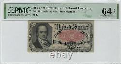 50c 1875 Fifth Issue Fractional Currency PMG Choice Unc 64 EPQ FR#1381