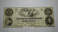 $5 1854 Ann Arbor Michigan MI Obsolete Currency Bank Note Bill! Washtenaw UNC++