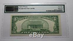 $5 1929 Brea California CA National Currency Bank Note Bill Ch. #13877 UNC63 EPQ