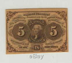 5 Cent First Issue Fractional Postal Currency Fr. 1230 Pmg Choice Unc 64 Epq(006)
