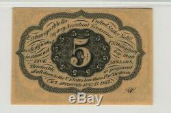 5 Cent First Issue Fractional Postal Currency Fr. 1230 Pmg Choice Unc 64 Epq(009)