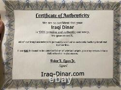 5 x 25,000 Iraqi Dinar UNC Banknotes = 125,000 Dinars (IQD) Currency / Money