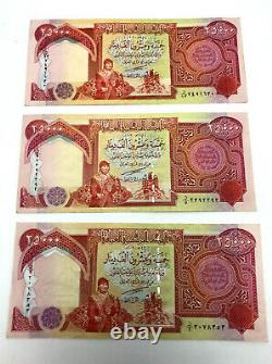 75000 IRAQI DINARS CURRENCY 3 x 25,000 IQD UNC IRAQ DINAR BANKNOTES Circulated
