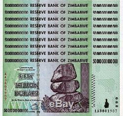 9/ 50 Trillion Zimbabwe Dollar Money Currency. Unc USA Seller