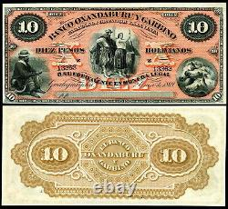 ARGENTINA P-S1784r 10 PESOS BOLIVIANOS 1869 HORSE HEADS WORLD CURRENCY UNC