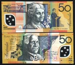 Australia 50 Dollars P60 B 2004 Drawing Polymer Unc Currency Money Bill Banknote