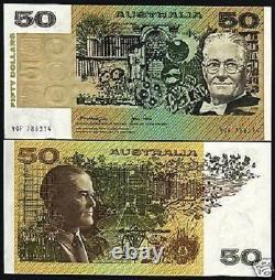 Australia 50 Dollars P-47 C 1979 Satelite Rat Dog Unc Currency Bill Bank Note
