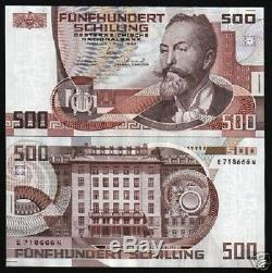 Austria 500 Schillings P151 1985 Euro Unc Post Office Bank Rare Currency Money