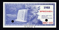 Canada 1988 Local Currency Manitoulin 3 Dollar Scrip SPECIMEN UNC